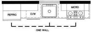 one line kitchen flow