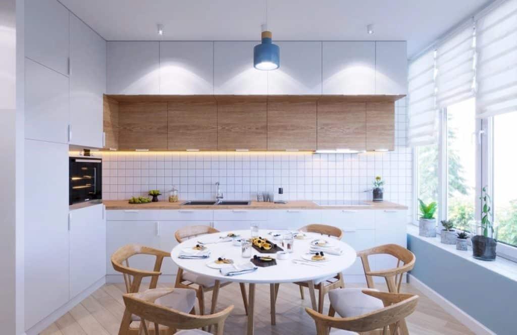 Bi-color high gloss kitchen