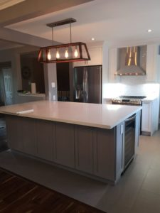 Two Tone Burlington Kitchen Remodel- Island Focus
