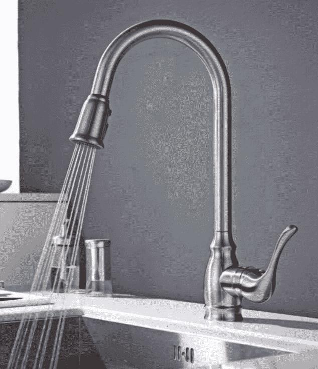 Kitchen Brushed Nickel Faucet Image