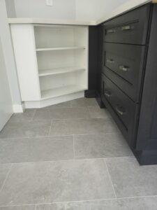 Burlington kitchen remodel open shelves